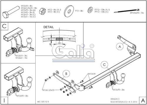 Mazda 3 htb. 5 drzwi (od 2013r.)