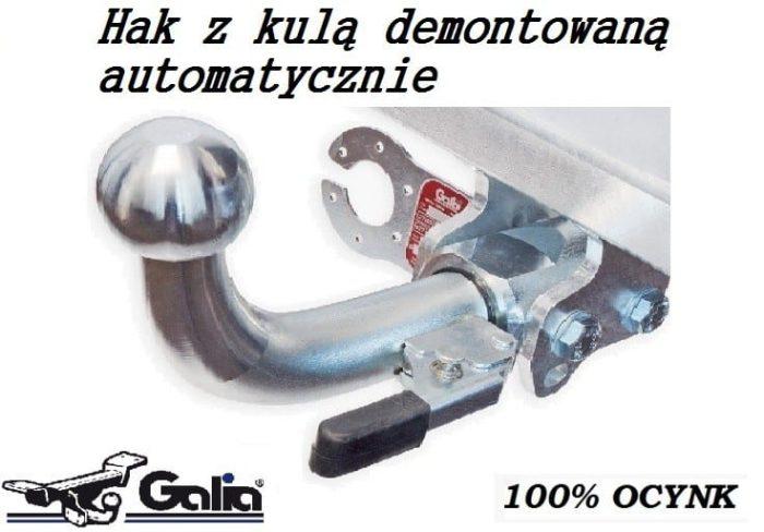 Hak holowniczy Galia z kulą wypinaną automatycznie